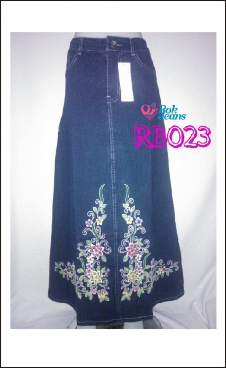 Rok Jeans Payet Lukis RB023