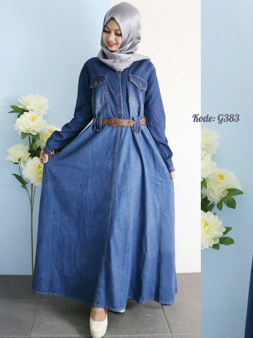 Gamis Payung With Belt G383 Baju Hijab Style Ootd