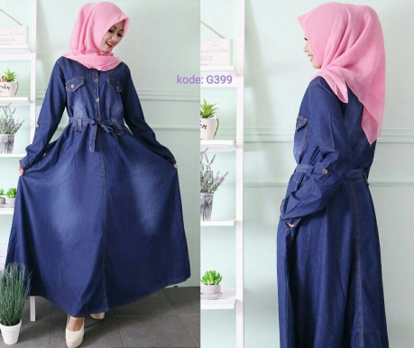 Gamis Payung Premium With Obi G399 Baju Hijab Style Ootd