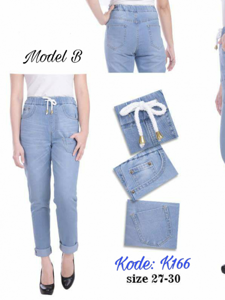 Highwaist Pants Jeans K166