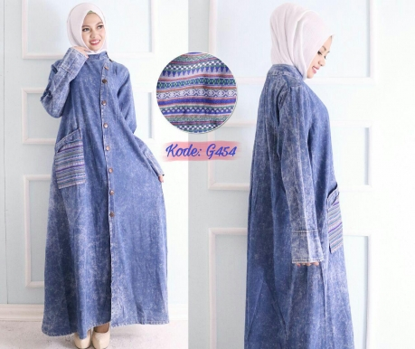 Long Coat Songket G454