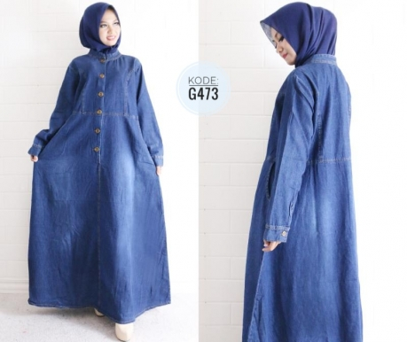 Big Size Moslem Dress G473