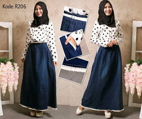 Simple Skirt Jeans R206