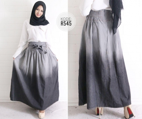 Grey Gradation Skirt R545