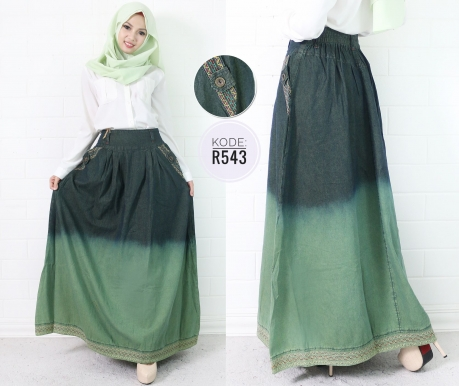 Green Skirt Gradation R543