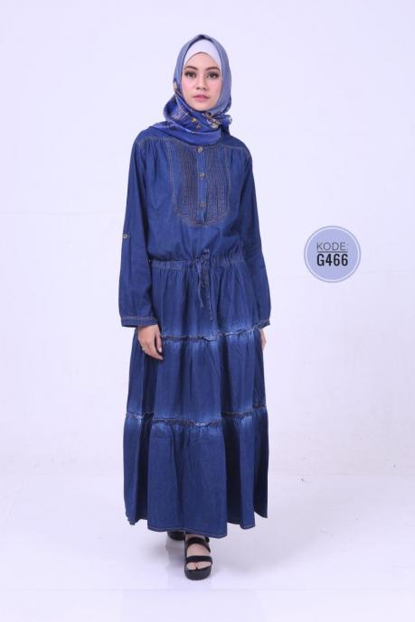 Gamis Jeans Ruffle G466