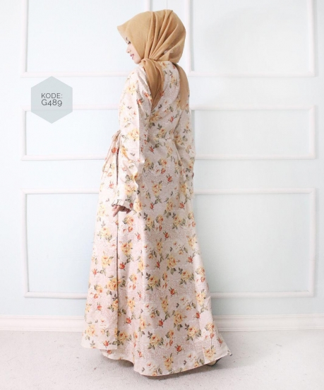 Flowerly Moslem Dress G489