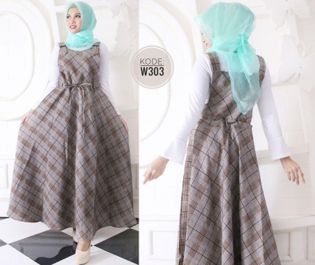 Square Skirt Overall W303