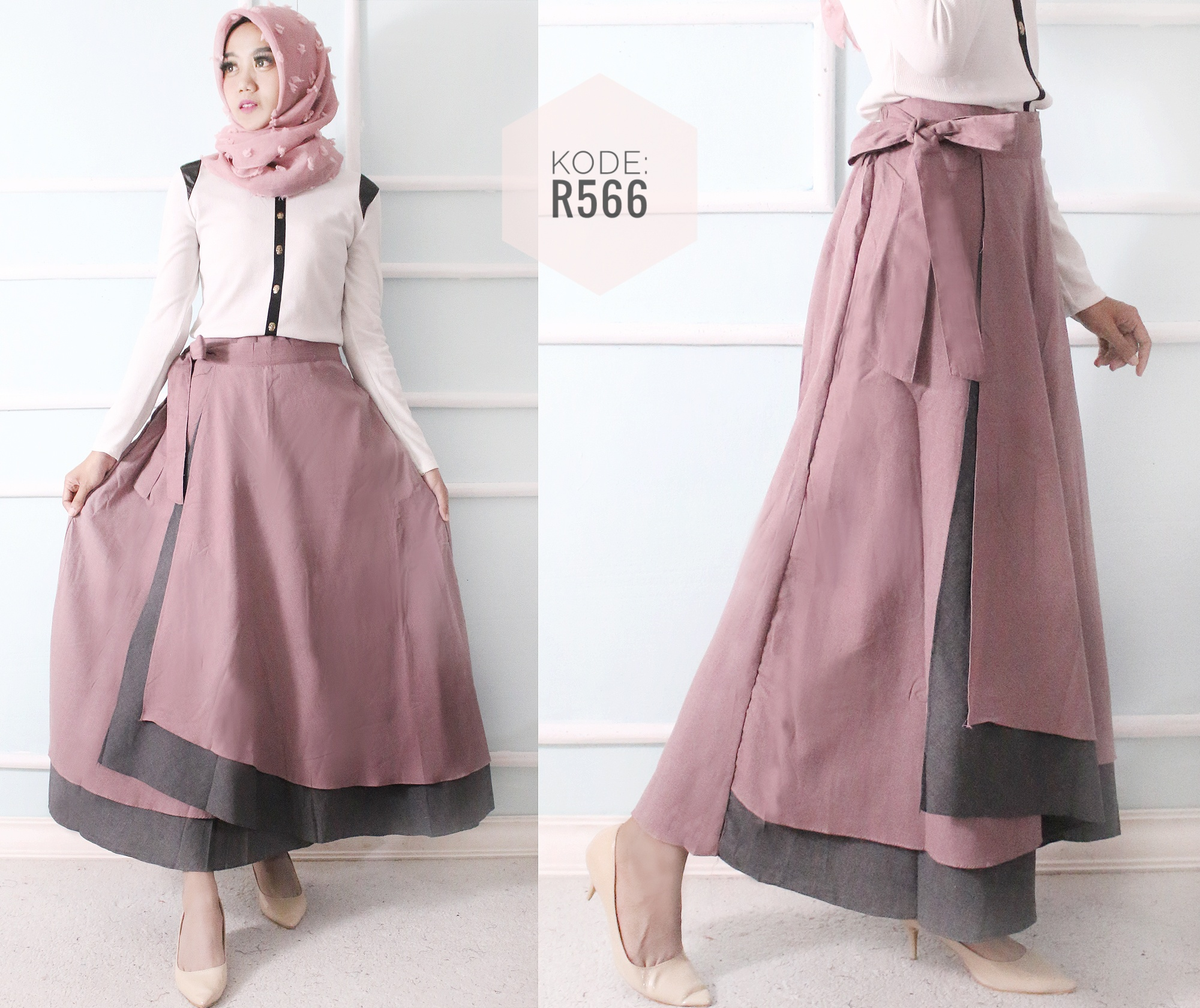 Double Layer Skirt R566