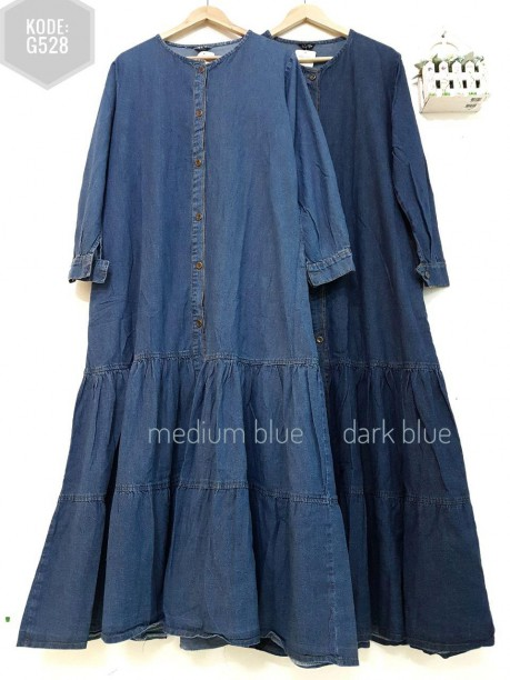 Ruffle Dress Jeans G528