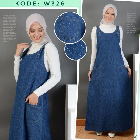 Overall Jeans Motif W326