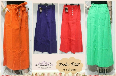 HOT ITEM!! Colors Jeans Skirt R515