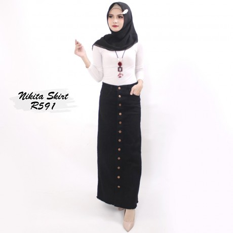 Nikita Black Skirt R591