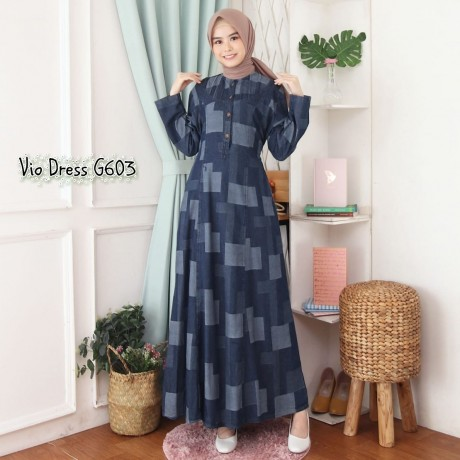 Vio Dress Abstrak G603