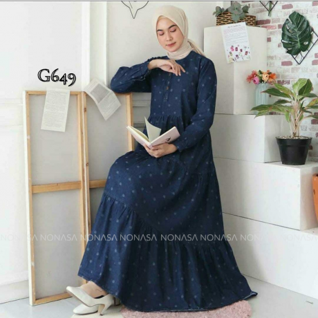 Aidah Dress Polka G649